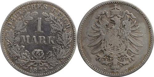 Lieferumfang:Deutschland : 1 Mark  -selten- 1873 s/ss.