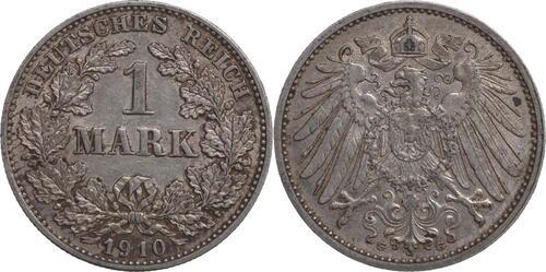 Lieferumfang:Deutschland : 1 Mark   1910 ss/vz.