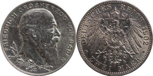 Lieferumfang:Deutschland : 2 Mark Friedrich I.  1902 vz/Stgl.