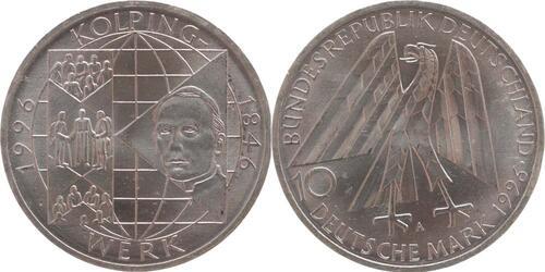Lieferumfang:Deutschland : 10 DM Adolf Kolping  1996 vz/Stgl.