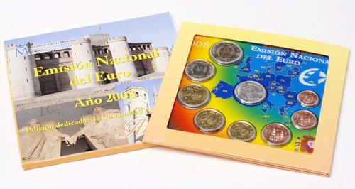 Lieferumfang:Spanien : 3,88 Euro original Kursmünzensatz aus Spanien mit Medaille Aragon  2008 Stgl. KMS Spanien 2008