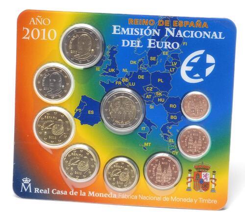 Lieferumfang:Spanien : 5,88 Euro original Kursmünzensatz aus Spanien mit 2 Euro Gedenkmünze Cordoba  2010 Stgl. KMS Spanien 2010 BU