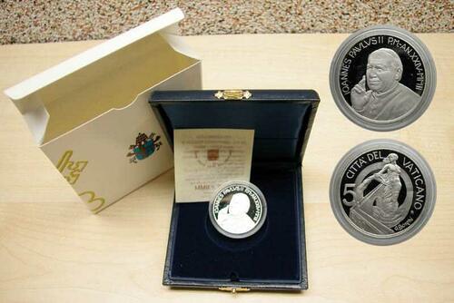 Lieferumfang:Vatikan : 5 Euro Europa, ein Projekt des Friedens und der Brüderlichkeit  2002 PP