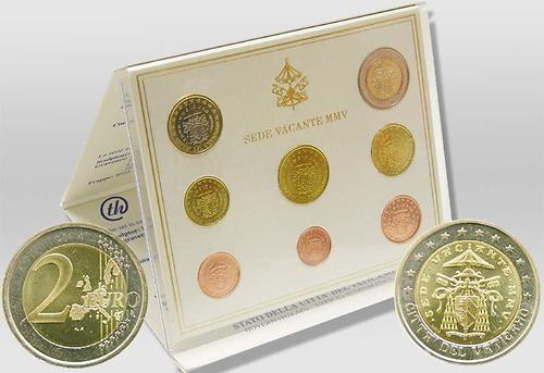 Lieferumfang:Vatikan : 3,88 Euro KMS Vatikan Sede Vacante  2005 Stgl. KMS Vatikan 2005 Sede Vacante