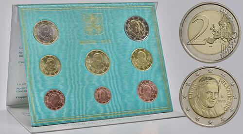 Lieferumfang:Vatikan : 3,88 Euro KMS Vatikan Benedikt XVI.  2013 Stgl. KMS Vatikan 2013 BU