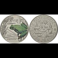 3 Euro Frosch 9/12 2018 Stgl. Österreich