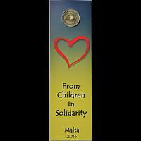 2 Euro Malta 2016 bfr. Liebe in Coincard