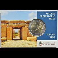 Malta 2 Euro Hagar Qim Coincard 2017 Stgl.