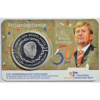 Niederlande 10 Euro Willem Alexander 2017 Stgl. Coincard