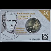 Italien 2 Euro Livius in Coincard 2017 Stgl.