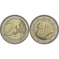 San Marino 2 Euro Portrait von San Marino 2017 bfr Kursmünze
