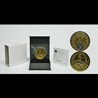Polen 2017 20 Zloty 100 Dukaten von König Sigismund Vasa - teilvergoldet PP