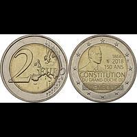 Luxemburg 2 Euro Verfassung 2018 bfr