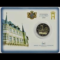 Luxemburg 2 Euro 150 Jahre Verfassung 2018 bfr Coincard