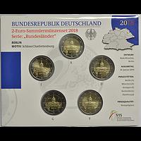 2 Euro Berlin Charlottenburg Komplett 5x2 Euro 2018 Stgl.