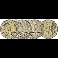 Deutschland 2018 2 Euro Helmut Schmidt Komplettsatz 5x2 Euro bfr