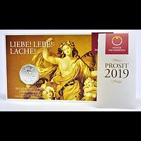 5 Euro Neujahrsmünze - Lebensfreude 2019 Stgl. Österreich