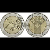 Lettland 2 Euro Unabhängigkeit 2018 bfr