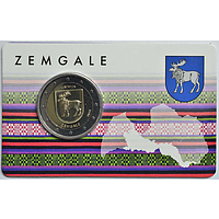 2 Euro Zemgale 2018 Stgl. Lettland Coincard
