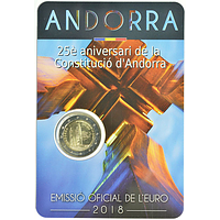 2 Euro Verfassung 2018 Stgl. Andorra