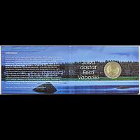 2 Euro 100 Jahre Republik Estland 2018 Stgl. Coincard