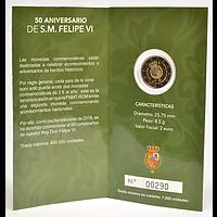 2 Euro Felipe 2018 PP Spanien