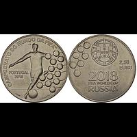 2,5 Euro FIFA Fußball WM 2018 bfr Portugal Cu/Ni
