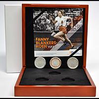 5 Euro 3x5 Euro Fanny Blankers-Koen Prestige Set coloriert 2018 PP Niederlande