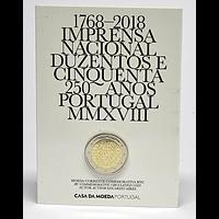 Portugal 2018 2 Euro 250 Jahre staatliche Prägestätte INCM Stgl.