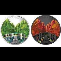Kanada 2018 20 Dollar Ahornbaum-Tunnel - mit Schwarzlichttaschenlampe PP