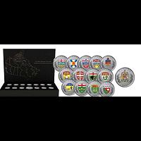 Kanada 2018 8,25 Dollar Die Wappen Canadas - Set (13x 25 Ct, 1x 5 $) PP