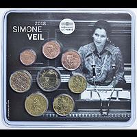 3,88 Euro Mini KMS Simone Veil 2018 bfr Frankreich
