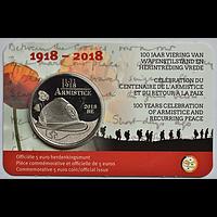 5 Euro Waffenstillstand 2018 bfr Belgien Coincard
