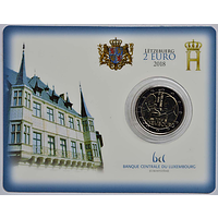 2 Euro Guilaume I. 2018 Stgl. Luxemburg Coincard