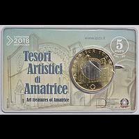 5 Euro Amatrice 2018 bfr Italien Coincard