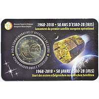 2 Euro ESRO-2B Satellit 2018 Stgl. Belgien Coincard FR
