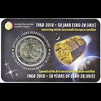 2 Euro ESRO-2B Satellit 2018 Stgl. Belgien Coincard NL