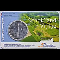 5 Euro Schokland 2018 bfr Niederlande Coincard