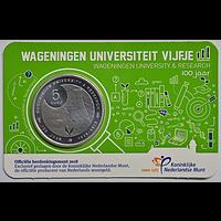 5 Euro Uni Wageningen 2018 bfr Niederlande Coincard