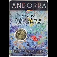 2 Euro Menschenrechte 2018 bfr Andorra