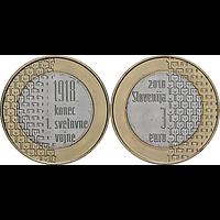 3 Euro 100 Jahre Ende des 1. Weltkrieges 2018 bfr Slowenien