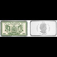 Kanada 2018 20 Dollar Wappen und Flaggen/Expressmarke-Hist. Briefmarken PP