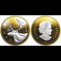 Kanada 2019 25 Cent Große Münzen - Karibu PP