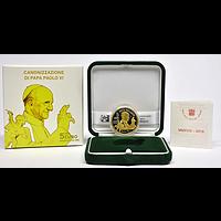 5 Euro Heiligsprechung Papst Paul VI 2018 PP Vatikan vergoldet
