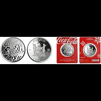 Fidji Inseln 2019 1 Dollar Coca-Cola Holiday Coin in Coincard 1 oz Stgl.