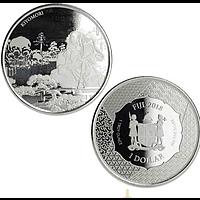 Fidji Inseln 2018 1 Dollar Samurai Archives 1 oz Stgl.