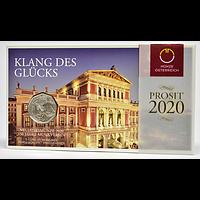 5 Euro Neujahrsmünze 2020 Stgl. Österreich Silber im Blister