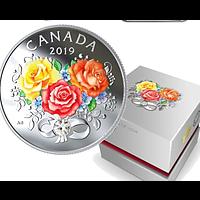 Kanada 2019 3 Dollar Fest der Liebe - mit Swarowskikristall PP