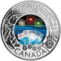 Kanada 2019 3 Dollar Feuerwerk an den Niagarafällen – Kan. Feste PP