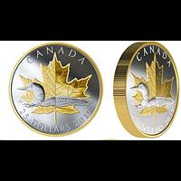 Kanada 2019 25 Dollar Zeitlose Ikonen - Maple Leaf und Loon Piedfort PP